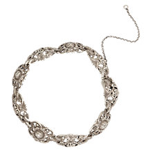 Buy Sharon Mills 1950s Silver Marcasite Ornate Bracelet, Silver Online at johnlewis.com