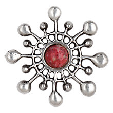 Buy Sharon Mills 1960s Rhodochrosite David Anderson Norway Brooch, Silver Online at johnlewis.com