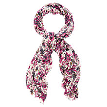 Buy Oasis Folk Floral Paisley Scarf, Multi Pink Online at johnlewis.com
