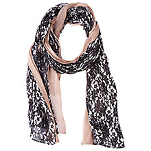 Buy Betty Barclay Long Floral Print Scarf, Camel / Black Online at johnlewis.com