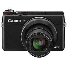 "Buy Canon PowerShot G7 X Digital Camera, HD 1080p, 20MP, 5x Optical Zoom, NFC, Wi-Fi, 3"" LCD Screen Online at johnlewis.com"