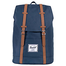 Buy Herschel Supply Co. Retreat Backpack, Navy Online at johnlewis.com