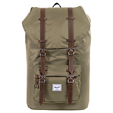 Buy Herschel Supply Co. Little America Nylon Backpack, Green Online at johnlewis.com