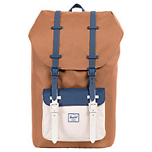 Buy Herschel Supply Co. Little America Backpack, Caramel/Natural/Navy Online at johnlewis.com