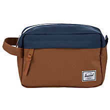 Buy Herschel Supply Co. Chapter Wash Bag, Navy/Caramel Online at johnlewis.com