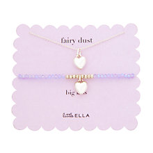 Buy Little Ella Lulu Heart Necklace and Bracelet Set Online at johnlewis.com