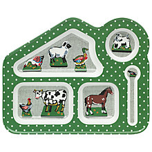 Buy Cath Kidston Melamine Home Farm Food Tray, Green Online at johnlewis.com