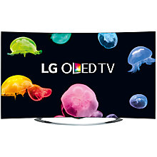 "Buy LG 65EC970V Curved 4K Ultra HD OLED 3D Smart TV, 65"" with Freeview HD with Monster HDMI Cable Online at johnlewis.com"