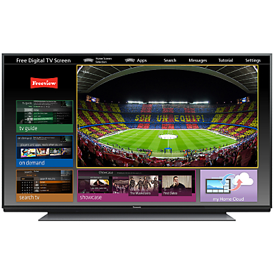 Panasonic Viera 85X942B LED 4K Ultra HD 3D Smart TV, 85, Freeview HD, Freesat HD with freetime