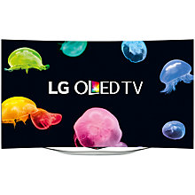 "Buy LG 55EC980W Curved OLED Full HD 3D Smart TV, 55"" with Freeview HD and 1x 3D Glasses Online at johnlewis.com"