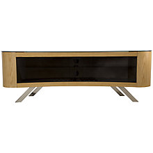 Buy AVF Bay Curved TV Stand, Oak Online at johnlewis.com