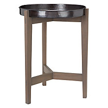 Buy John Lewis Flores Tray Top Bedside Table, Grey Online at johnlewis.com