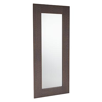 John Lewis Flores Leaning Mirror, Grey