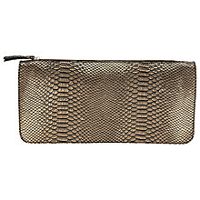 Buy COLLECTION by John Lewis Ashlynn Leather Clutch Bag, Bronze Online at johnlewis.com