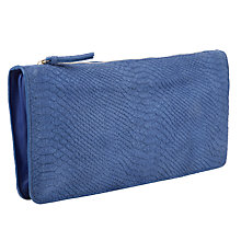 Buy COLLECTION by John Lewis Ashlynn Leather Clutch Bag, Blue Online at johnlewis.com