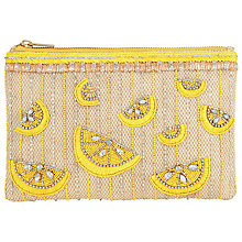 Buy COLLECTION by John Lewis Lemon Embellished Pouch, Yellow Online at johnlewis.com