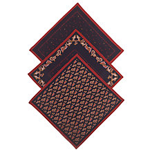 Buy John Lewis Paisley Handkerchiefs, Pack of 3, Navy Online at johnlewis.com
