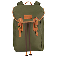 Buy Barbour Lachie Waxed Cotton Backpack, Olive Online at johnlewis.com