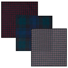 Buy John Lewis Check Handkerchiefs, Pack of 3, Multi Online at johnlewis.com