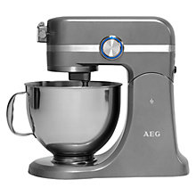 Buy AEG Ultramix KM4400 Stand Mixer, Tungsten Grey Online at johnlewis.com