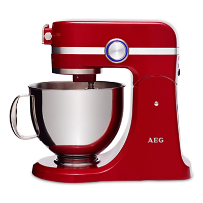 AEG Ultramix KM4000 Stand Mixer, Watermelon Red