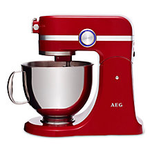 Buy AEG Ultramix KM4000 Stand Mixer, Watermelon Red Online at johnlewis.com