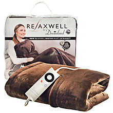 Buy Dreamland Relaxwell Heated Lap Blanket, Chocolate Online at johnlewis.com