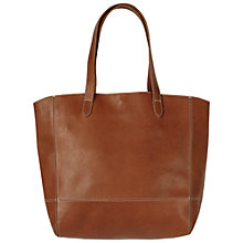 Buy Fat Face Large Leather Tote Bag, Tan Online at johnlewis.com