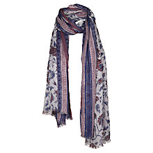 Buy Fat Face Indian Flower Garden Scarf, Pink Online at johnlewis.com