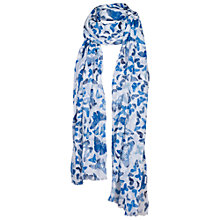 Buy Fat Face Kaleidoscope Butterfly Scarf, Blue Online at johnlewis.com