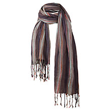 Buy Fat Face Festival Scarf, Purple Online at johnlewis.com