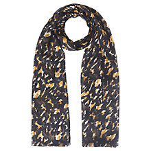 Buy Jigsaw Camouflage Print Silk Chiffon Scarf, Multi Black Online at johnlewis.com
