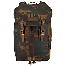 Buy Barbour Hamish Wax Cotton Backpack, Camouflage Online at johnlewis.com