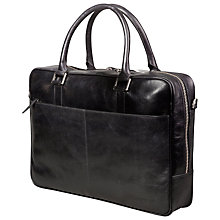 "Buy dbramante1928 Leather Rosenborg Business Bag for Laptops up to 16"", Black Online at johnlewis.com"