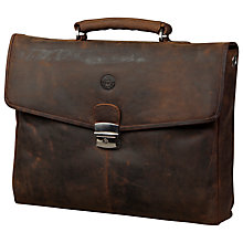 "Buy dbramante1928 Leather Briefcase for Laptops up to 14"", Brown Online at johnlewis.com"