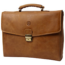 "Buy dbramante1928 Leather Briefcase for Laptops up to 16"", Tan Online at johnlewis.com"