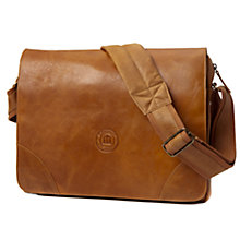 "Buy dbramante1928 Leather Rosenborg Messenger Bag for Laptops up to 16"", Tan Online at johnlewis.com"