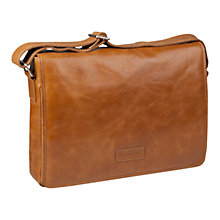 "Buy dbramante1928 Leather Marselisborg Messenger Bag for Laptops up to 14"", Tan Online at johnlewis.com"