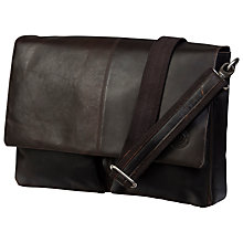 "Buy dbramante1928 Leather Messenger Bag for Laptops up to 13"", Brown Online at johnlewis.com"