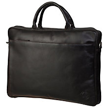"Buy dbramante1928 Leather Briefcase for Laptops up to 16"", Brown Online at johnlewis.com"