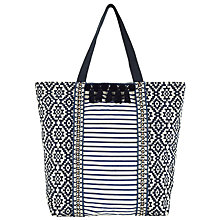 Buy Collection WEEKEND by John Lewis Large Woven Tote Bag, Blue Online at johnlewis.com