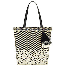 Buy Collection WEEKEND by John Lewis Zig Zag Shopper Bag, Natural/Mono Online at johnlewis.com