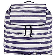 Buy Collection WEEKEND by John Lewis Broken Stripe Rucksack, Blue/White Online at johnlewis.com
