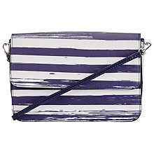 Buy Collection WEEKEND by John Lewis Broken Stripe Across Body Bag, Blue/White Online at johnlewis.com