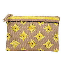 Buy John Lewis Floral Embellished Clutch Bag, Yellow Online at johnlewis.com