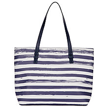 Buy Collection WEEKEND by John Lewis Broken Stripe Shopper, Blue/White Online at johnlewis.com