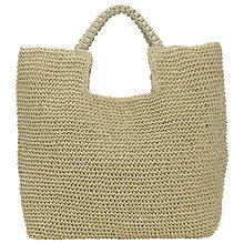 Buy Collection WEEKEND by John Lewis Straw Shopper Bag, Natural Online at johnlewis.com