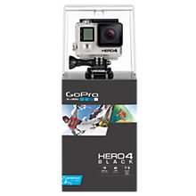 Buy GoPro Hero4: Black Edition Camcorder, 4K Ultra HD, 12MP, Wi-Fi, Bluetooth Online at johnlewis.com
