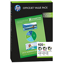 Buy HP 935XL Ink Cartridge, Cyan, Magenta and Yellow Combo Pack, F6U78AE Online at johnlewis.com