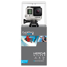 Buy GoPro Hero4: Silver Edition Camcorder, HD 1080p, 12MP, Bluetooth, Wi-Fi, Waterproof, Touch Screen Online at johnlewis.com